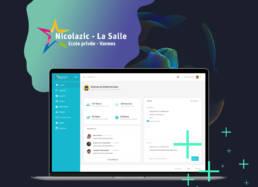 dashboard nicolazic - freelance - fabrice vermeulen - infografika - webdesign - UI - IHM