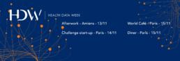 Health data week - infografika - Webdesigner - graphiste - fabrice vermeulen - branding - print - charte graphique - Health data week - logo - charte graphique - bannière web